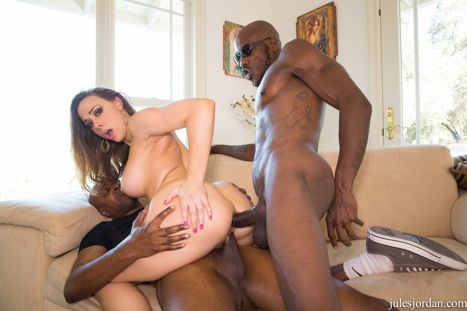 Wife gangbang husband tied