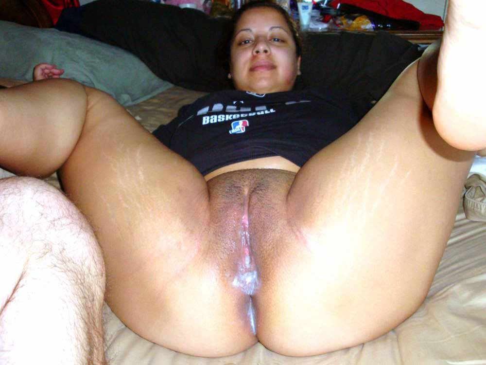 Good plump wife dripping creampie fuck
