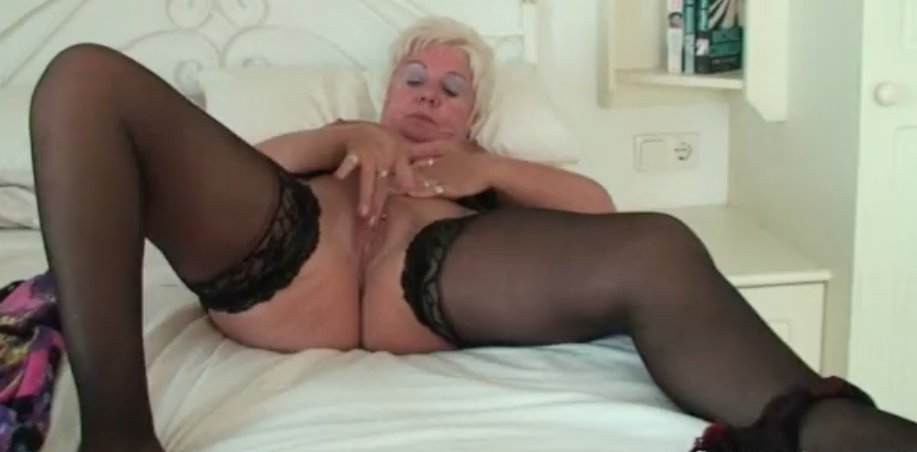 Hot big tits blonde milf in first porn mompov #1