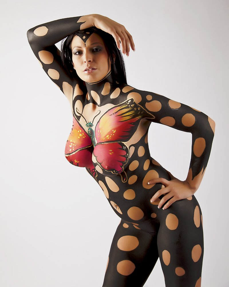Boy nude russian body painting