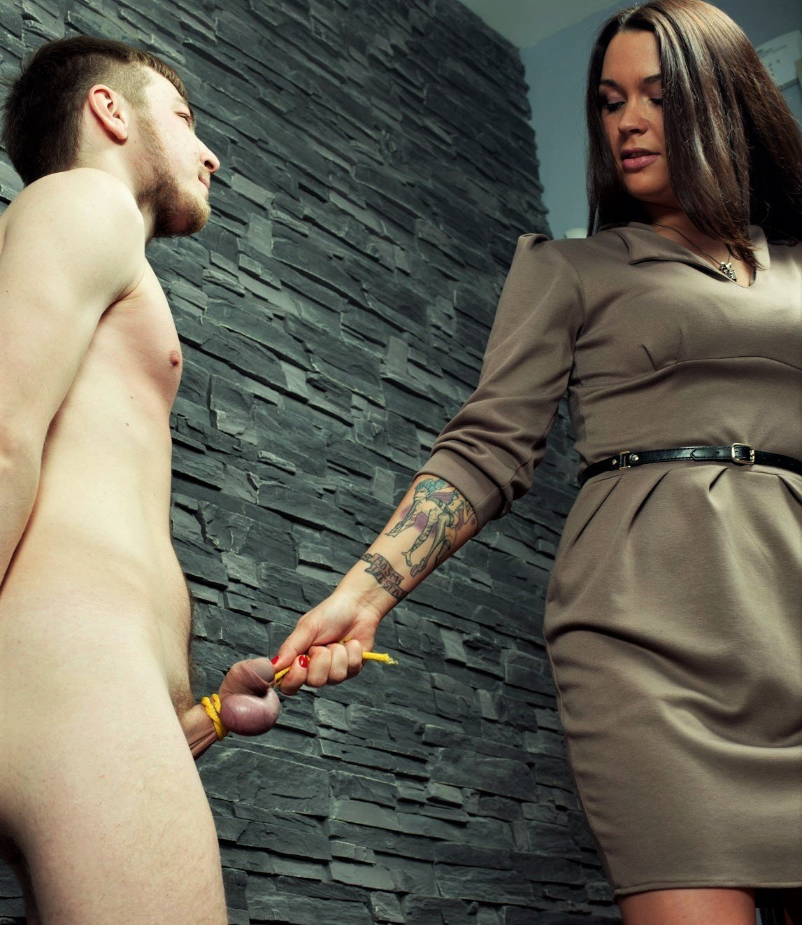 Russian Mistress Slaps And Forces Slave To Lick Her Boots