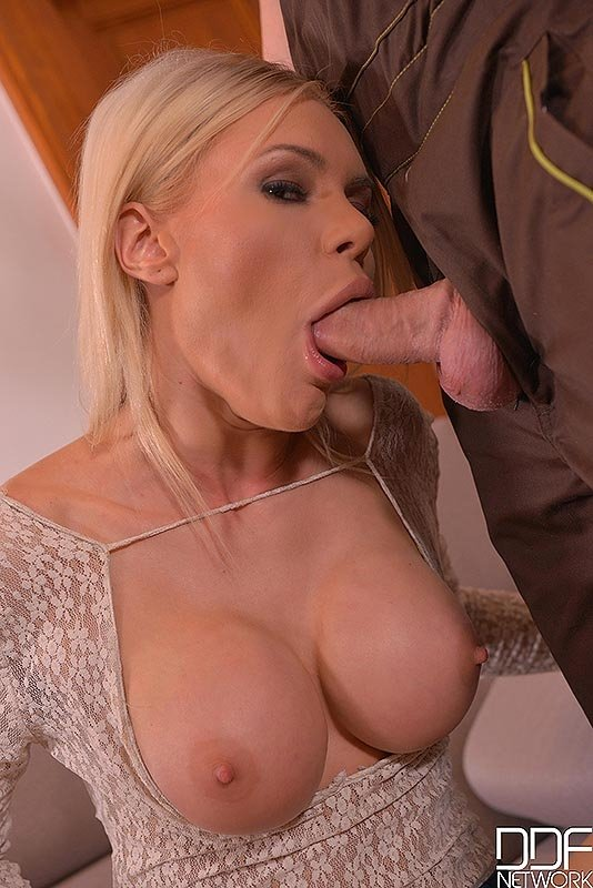 blonde suckers Russian cock