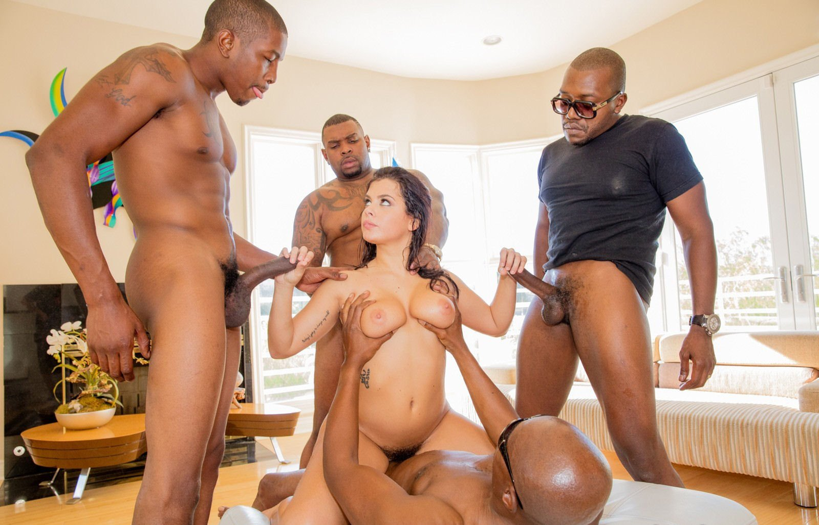 Keisha Grey Gets Oiled Up And Takes His Rod Doggy Style