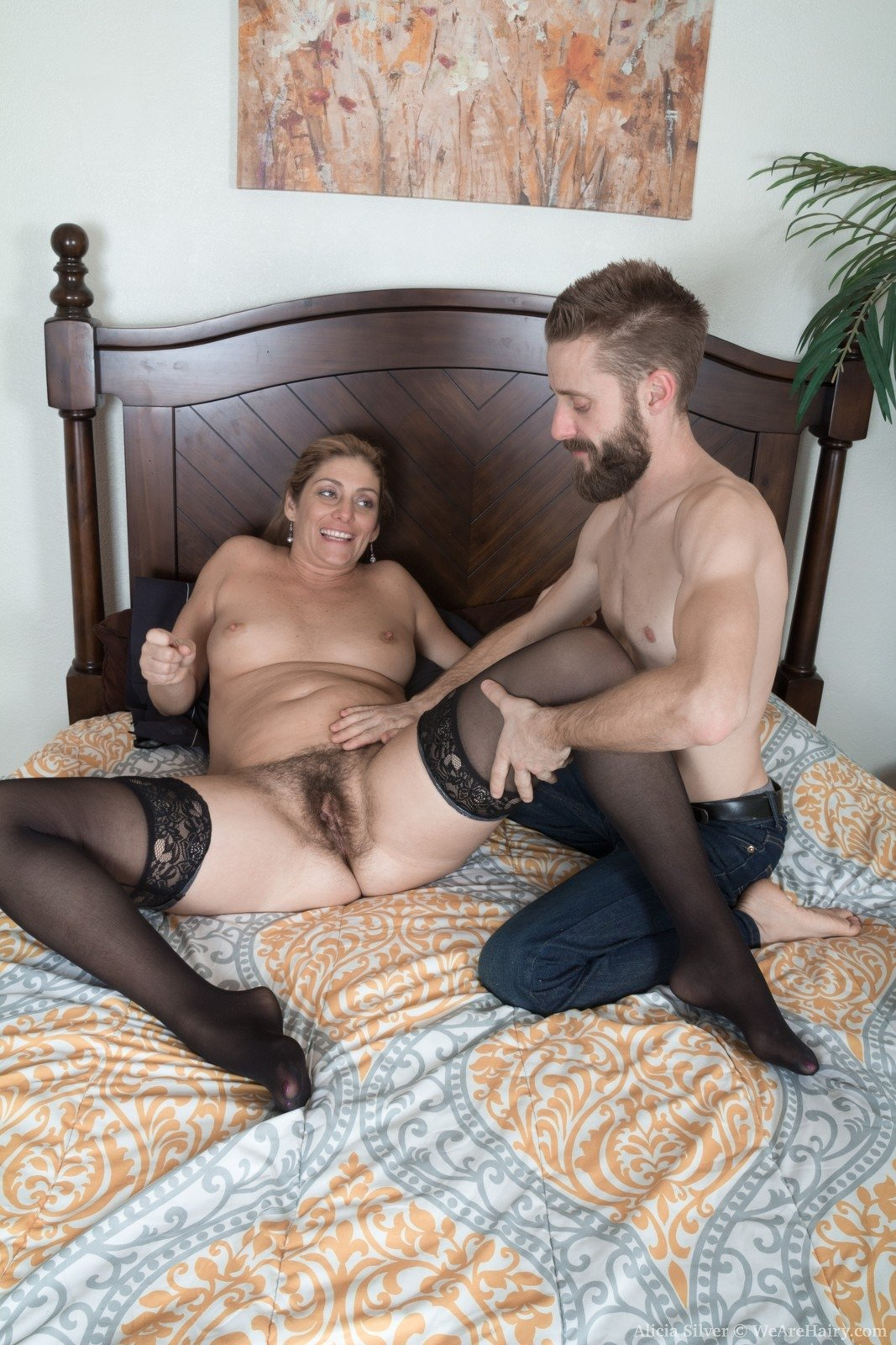 Big cock fuck has hubby watch while wife