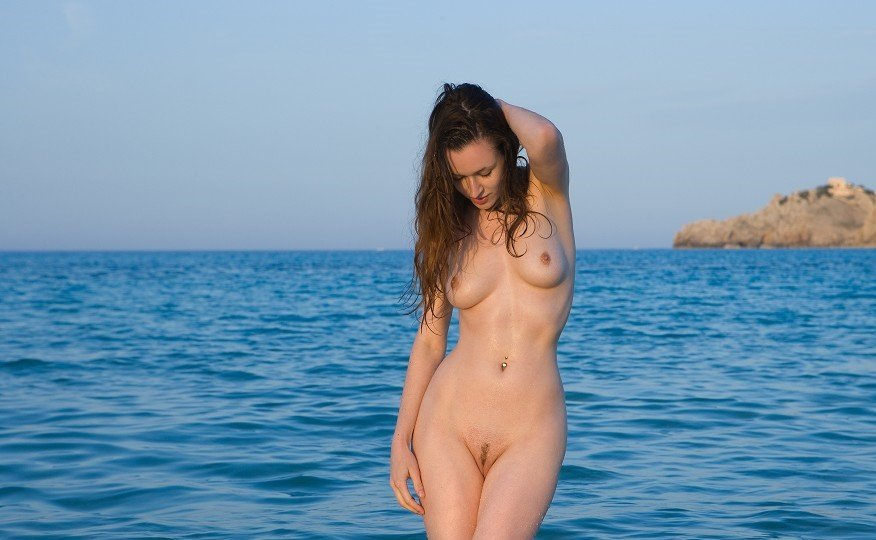 sexy girl beach nude there