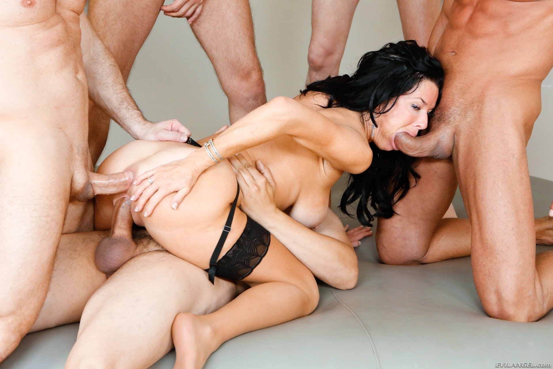 Free uncensored gang bang sex video
