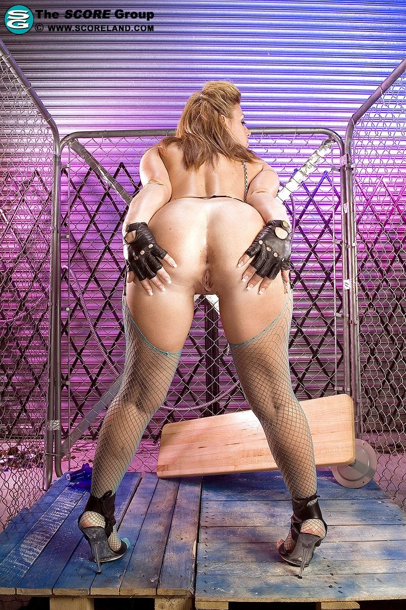 Girl leather squirtcam