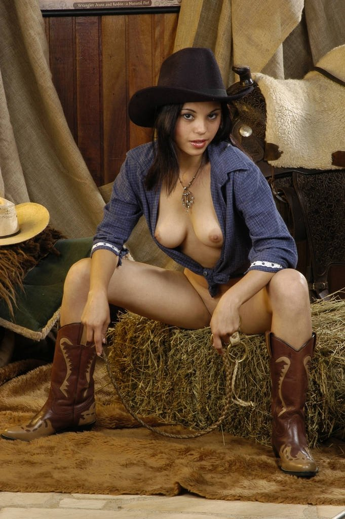 Allure nude horny sexy cowgirls body painted