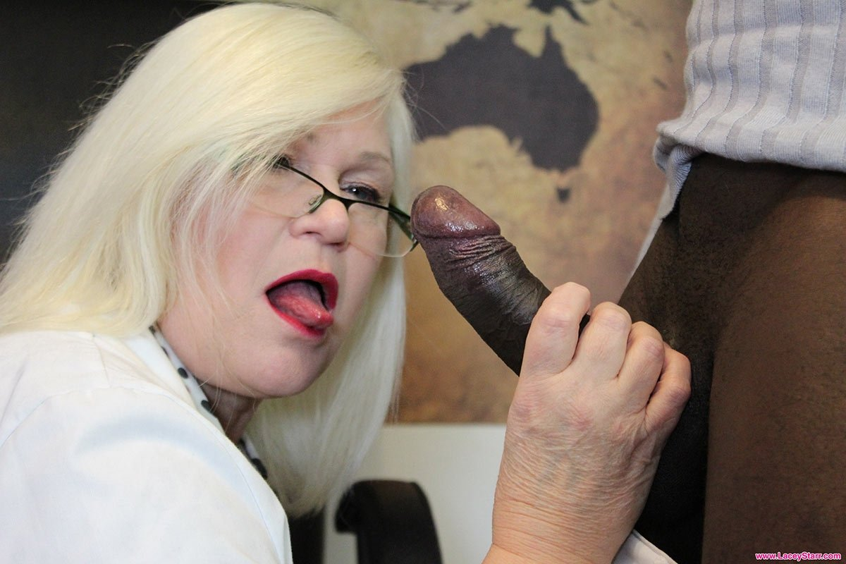 Lacey Starr Seduced A Much Younger Guy, Because She Wanted To Suck His Cock, Until He Cums