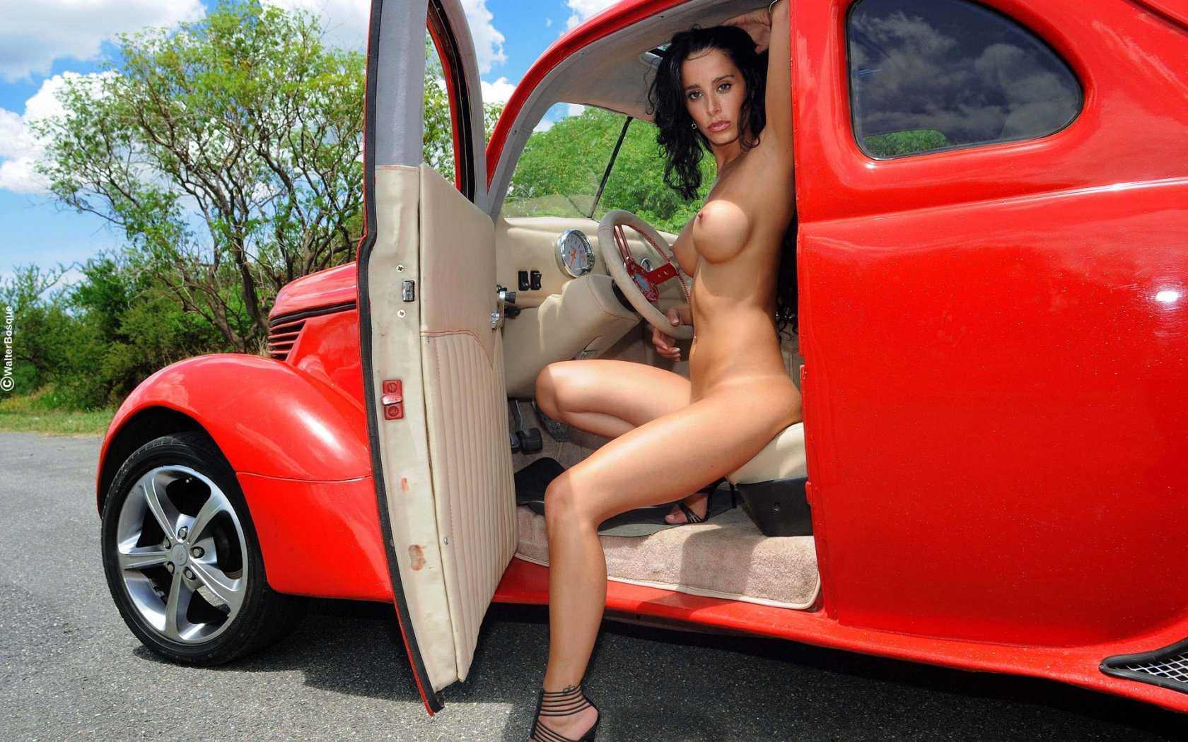 Nude women with exotic cars #14