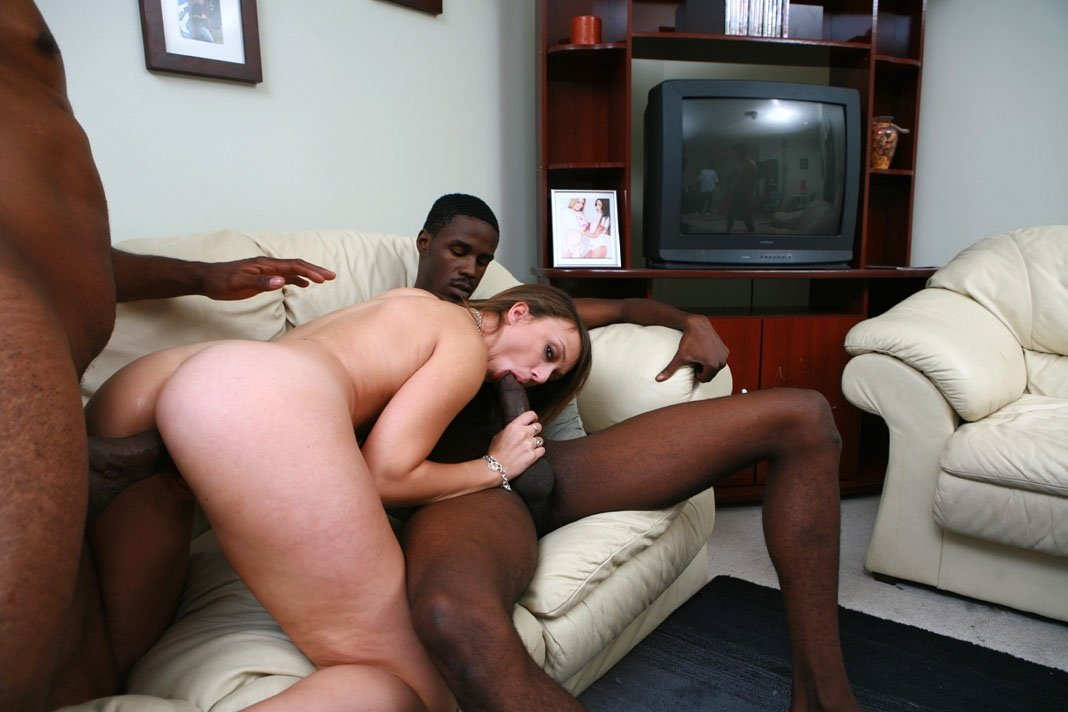 blond and black porn add photo