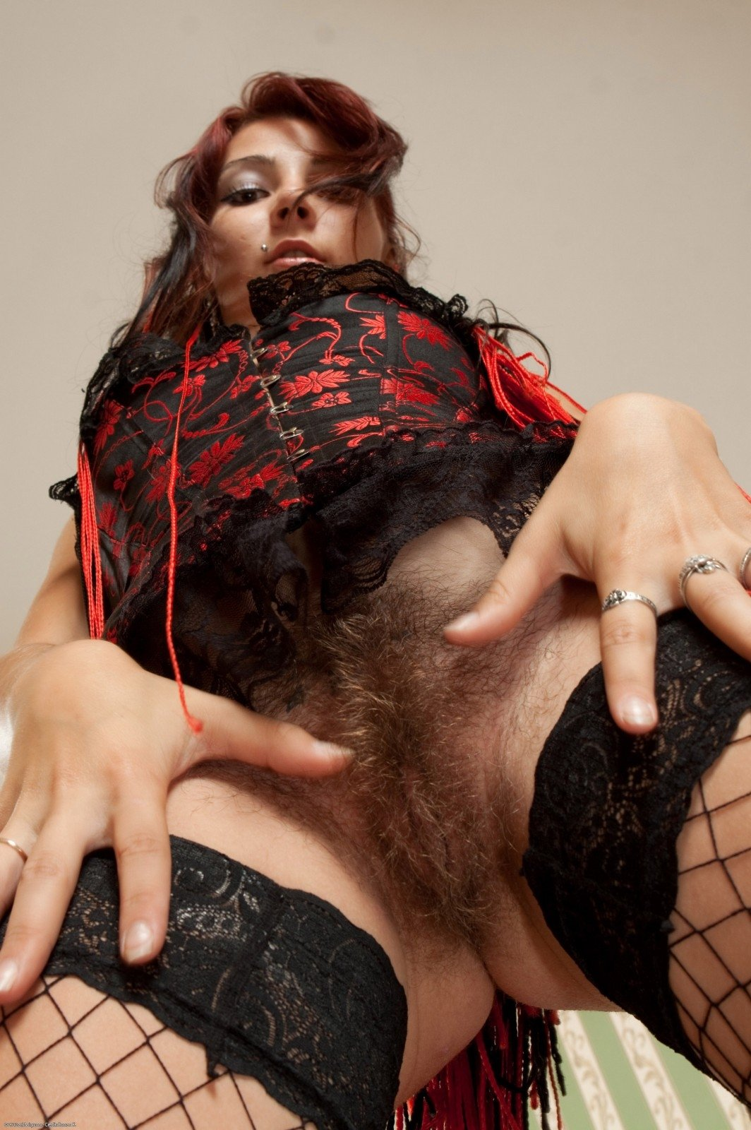 Watch Hairy Fishnet Harriet Gets Anal Fucked