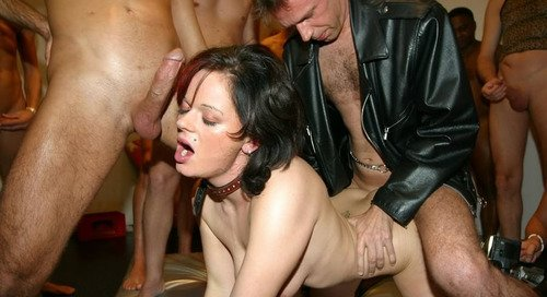 Tygojas    reccomended Plenty of gangbang on dance floor blow jobs from blondes with sperm at face