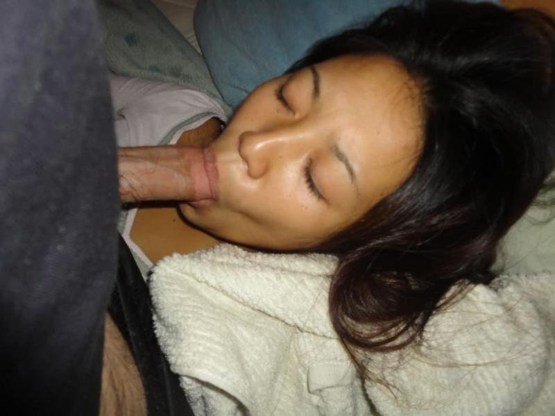 Asian Blowjob Under Table