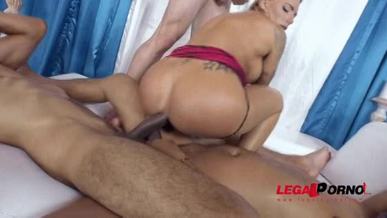 Rough Double Anal Creampie