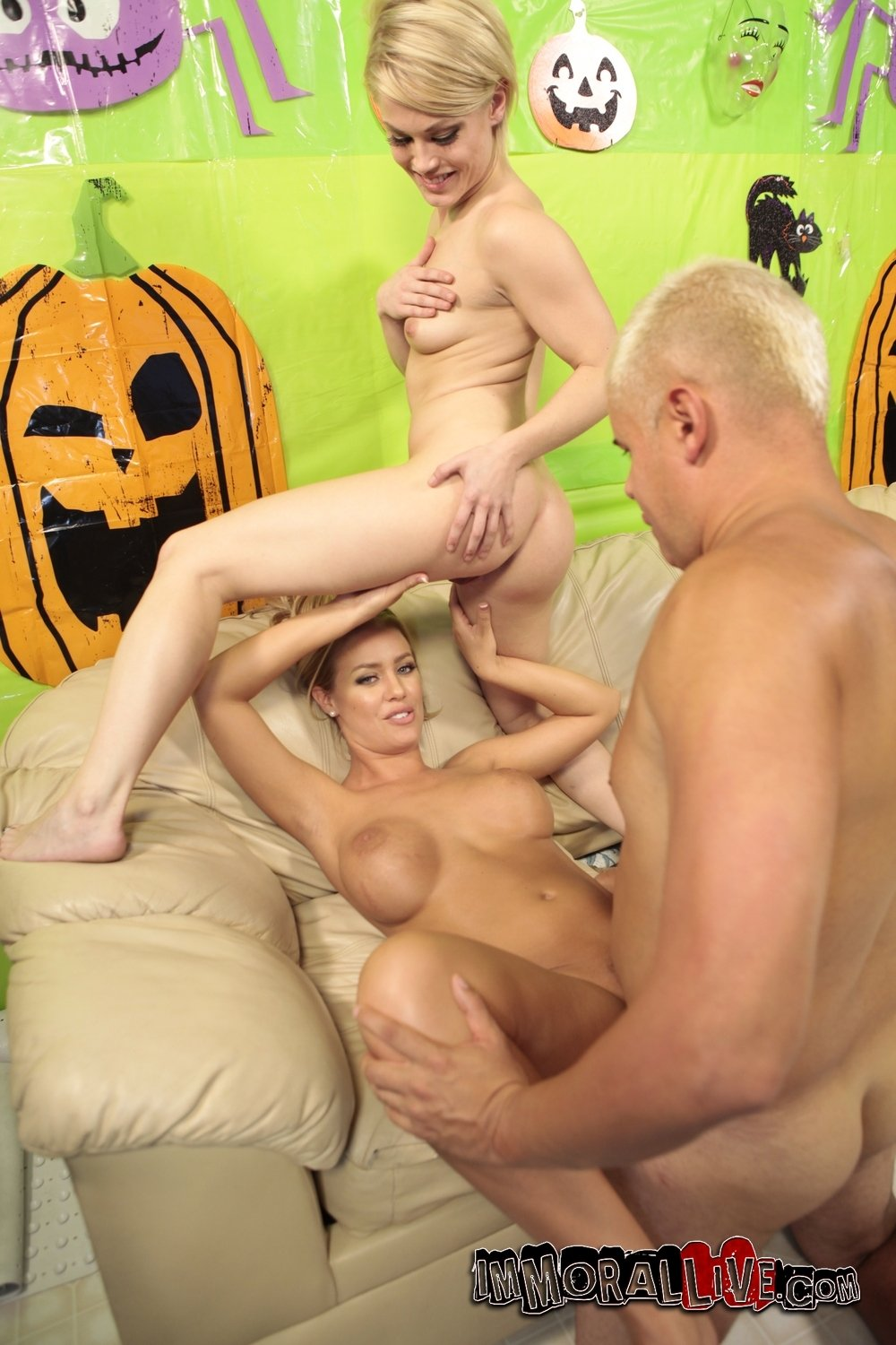Reluctant wife gangbang