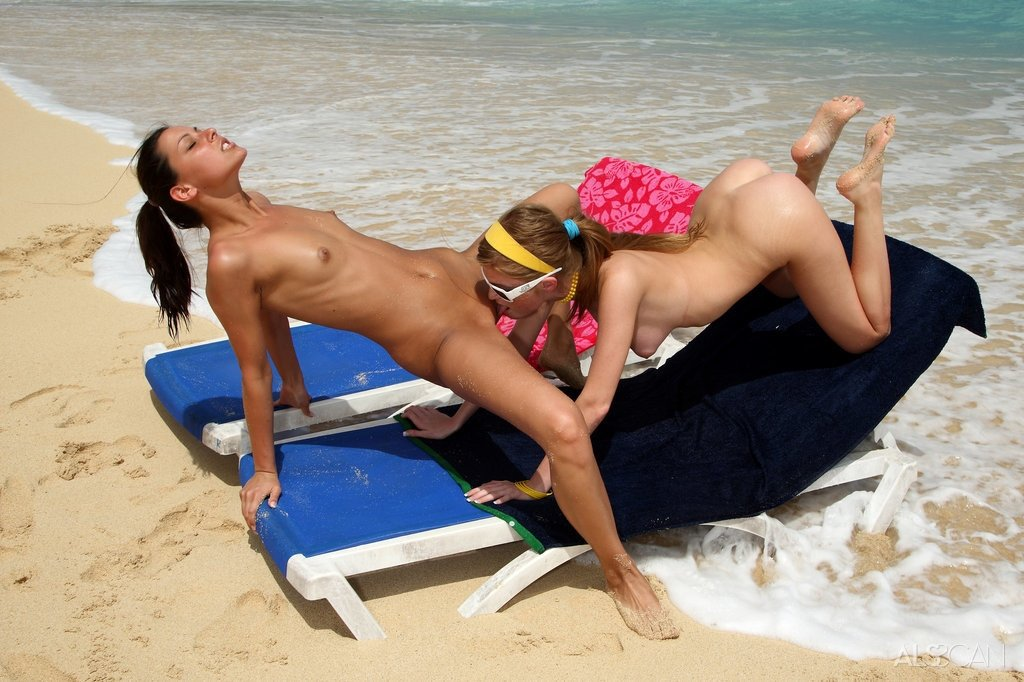 Teens at the nude beach #1