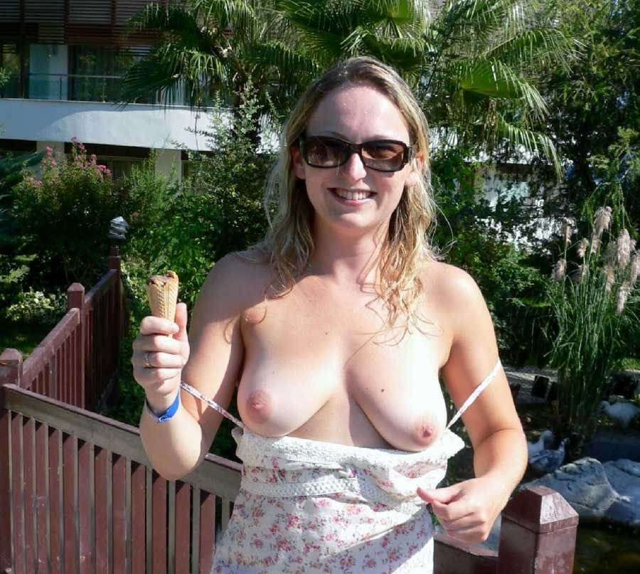 Mature Wife Flashing Breasts