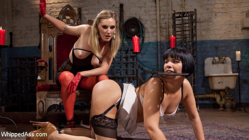Fisting loving whore gets kinky with bdsm domination there