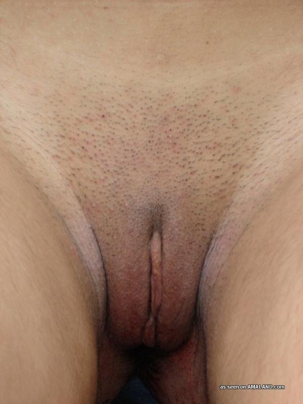 Wife dildos in front of husband