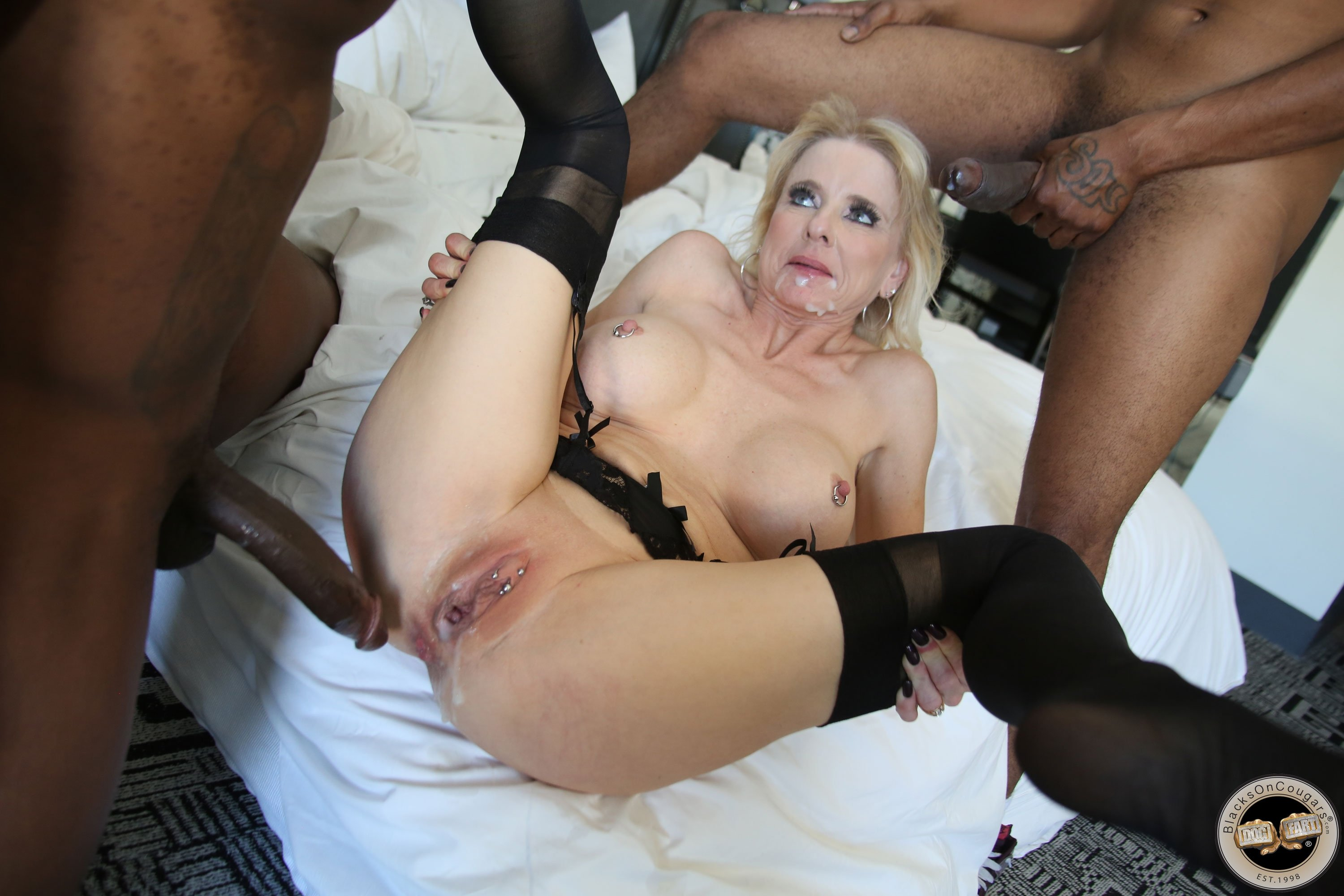 Mature Blonde First Anal