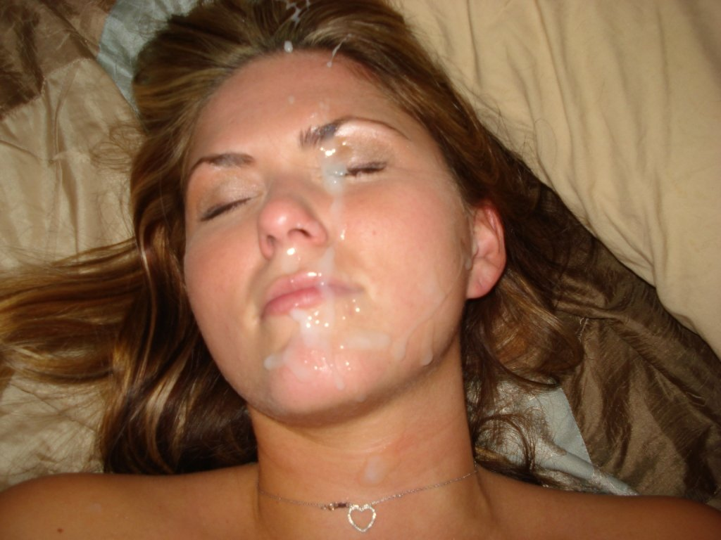 Naked girl pics with cum on their face — photo 2