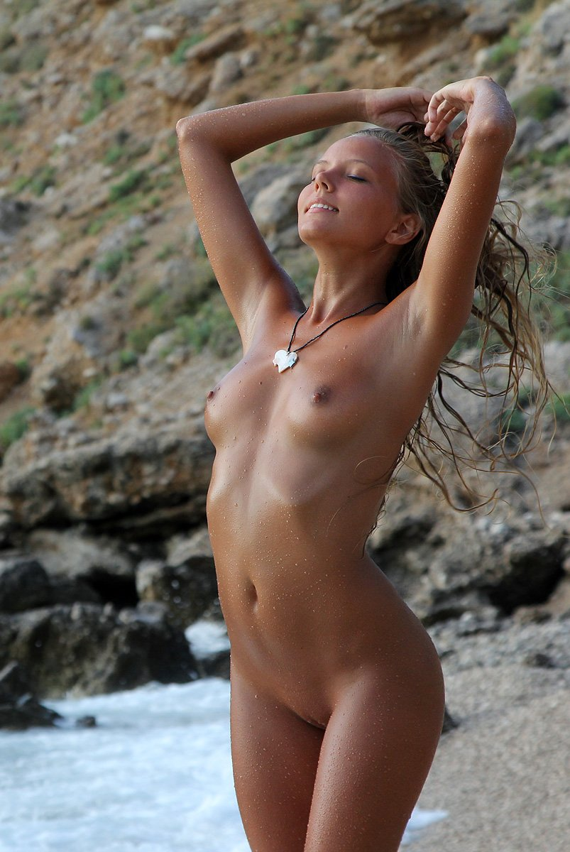 Naked fucking on nudist beach