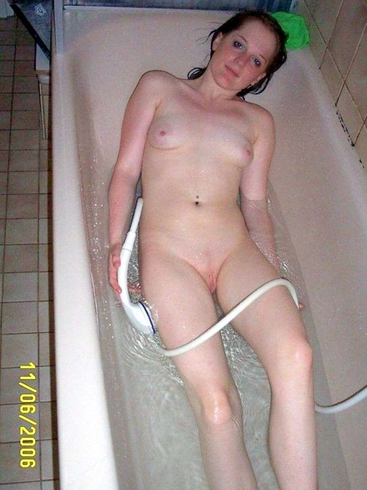 semi naked mature women