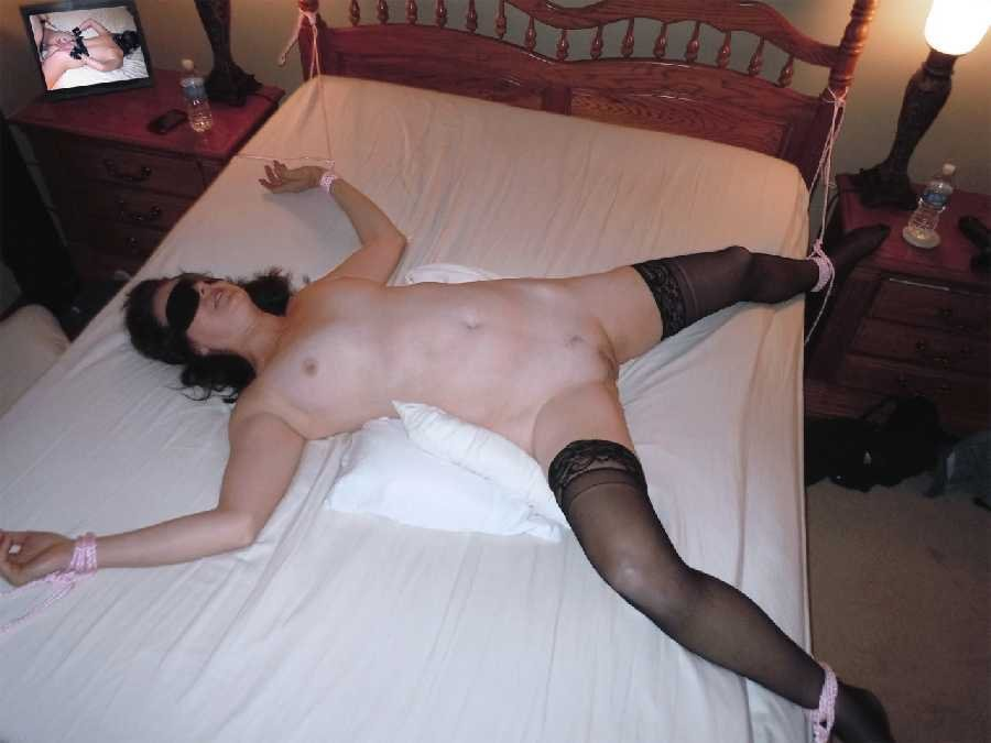 brunette room Mature motel bondage