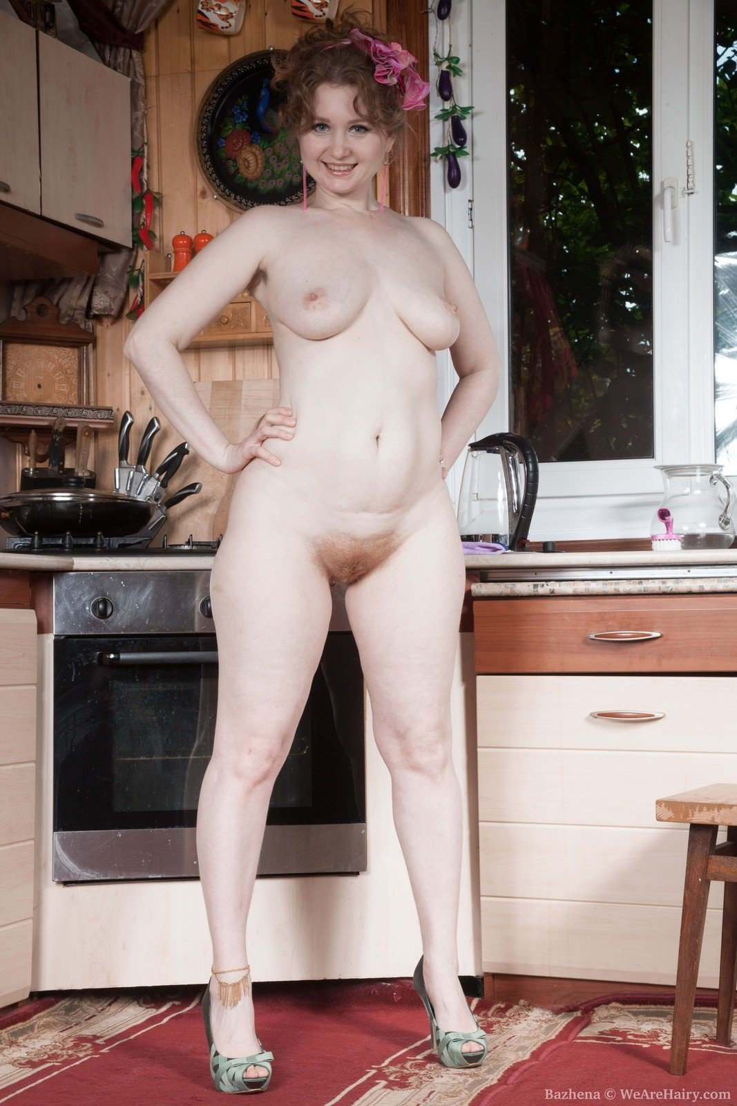 my hairy nude wife
