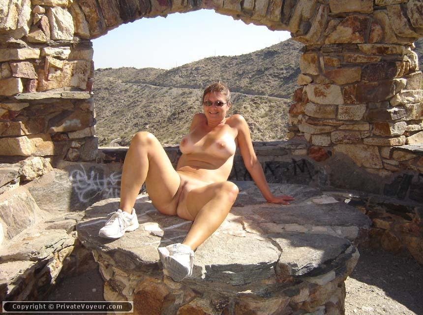 Camping babes in the nude