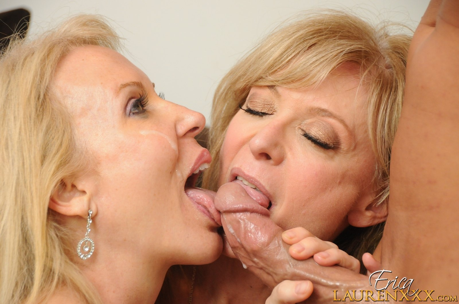 Licking balls sitting on cock