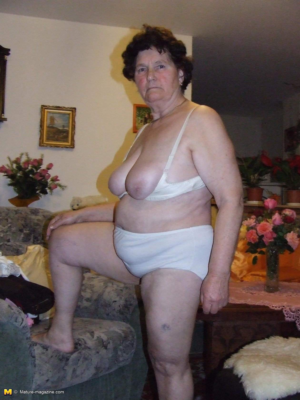 Topless granny photos #1