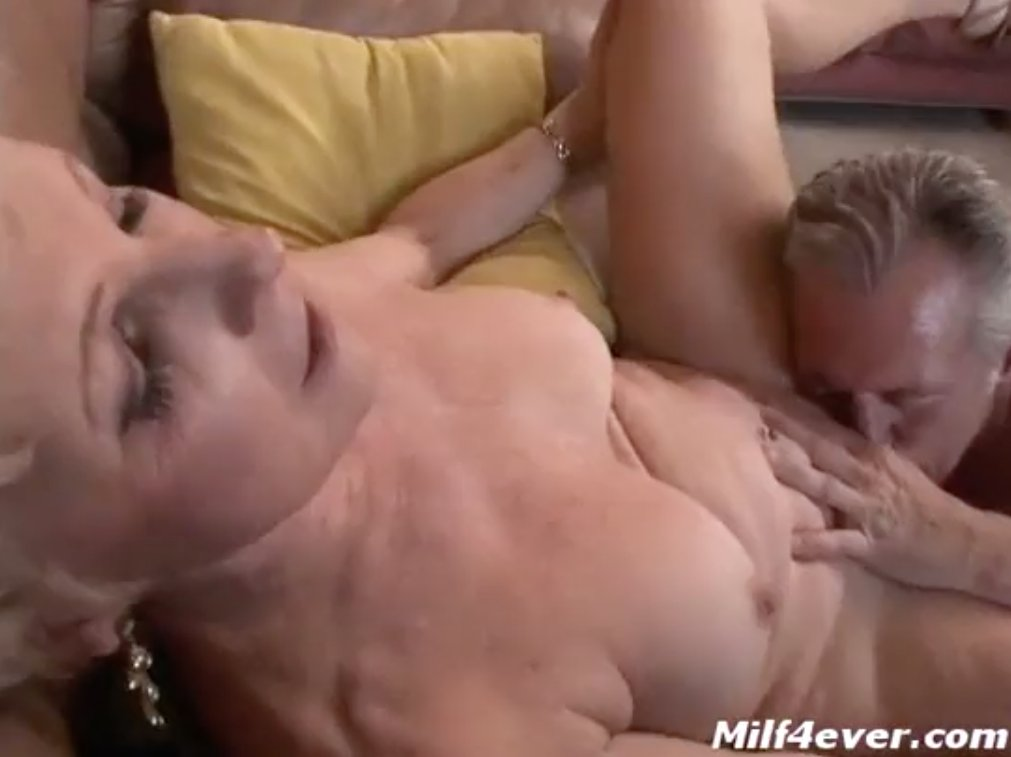 Home wife and mature woman masturbates to orgasm
