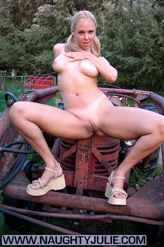 Answer, girls naked on a tractor delightful