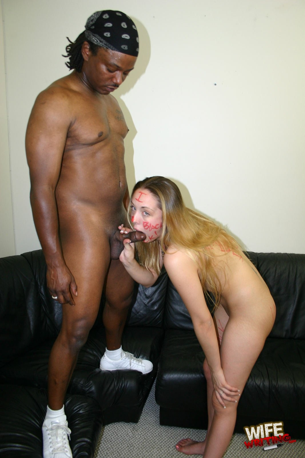 Blindfolded wife fucked in the ass