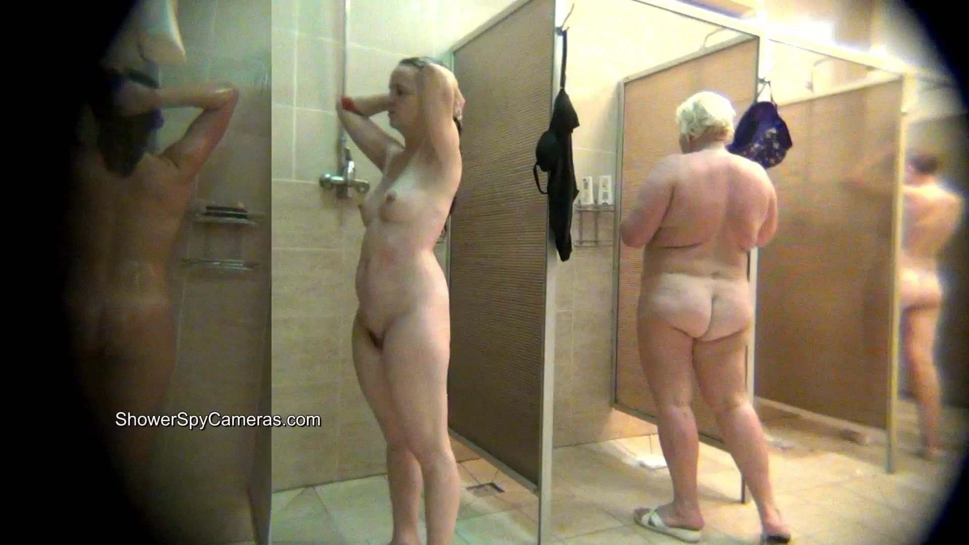 My girlfriend caught nude and naked in shower