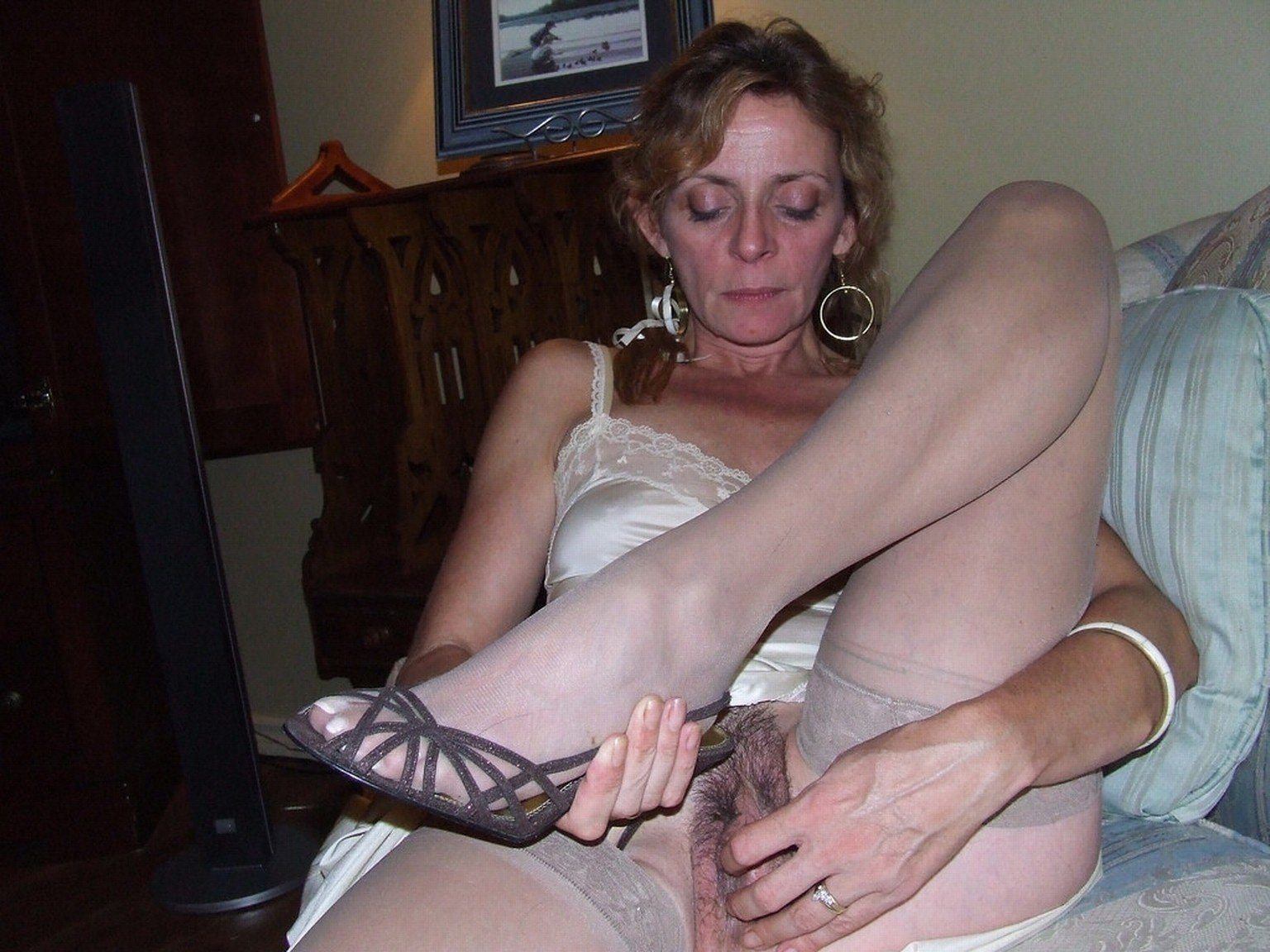 A cuckold husband films