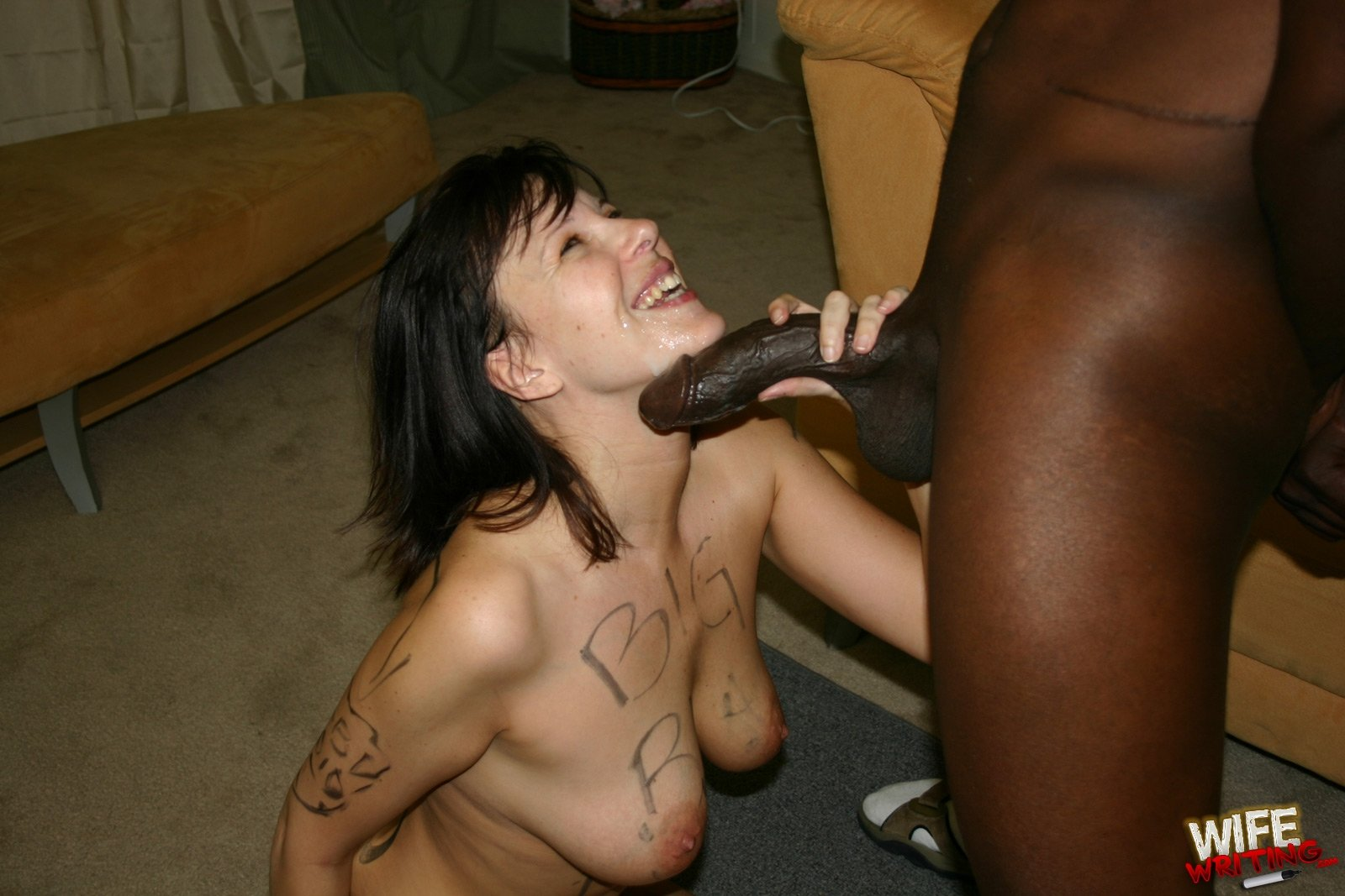 Short haired russian tina devouring a brutal dildo with her pussy