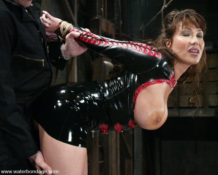 Big tits latex slave bondage