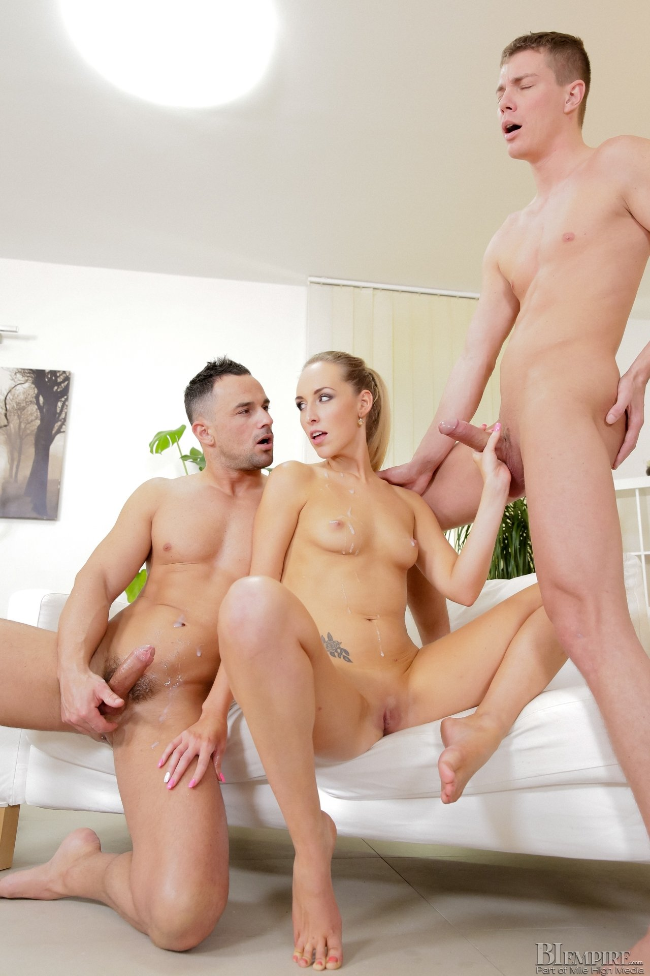 real amateur threesome video