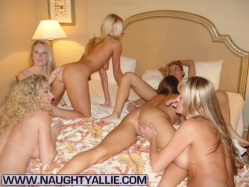 A couple of white wives have a hotel party hubbies film