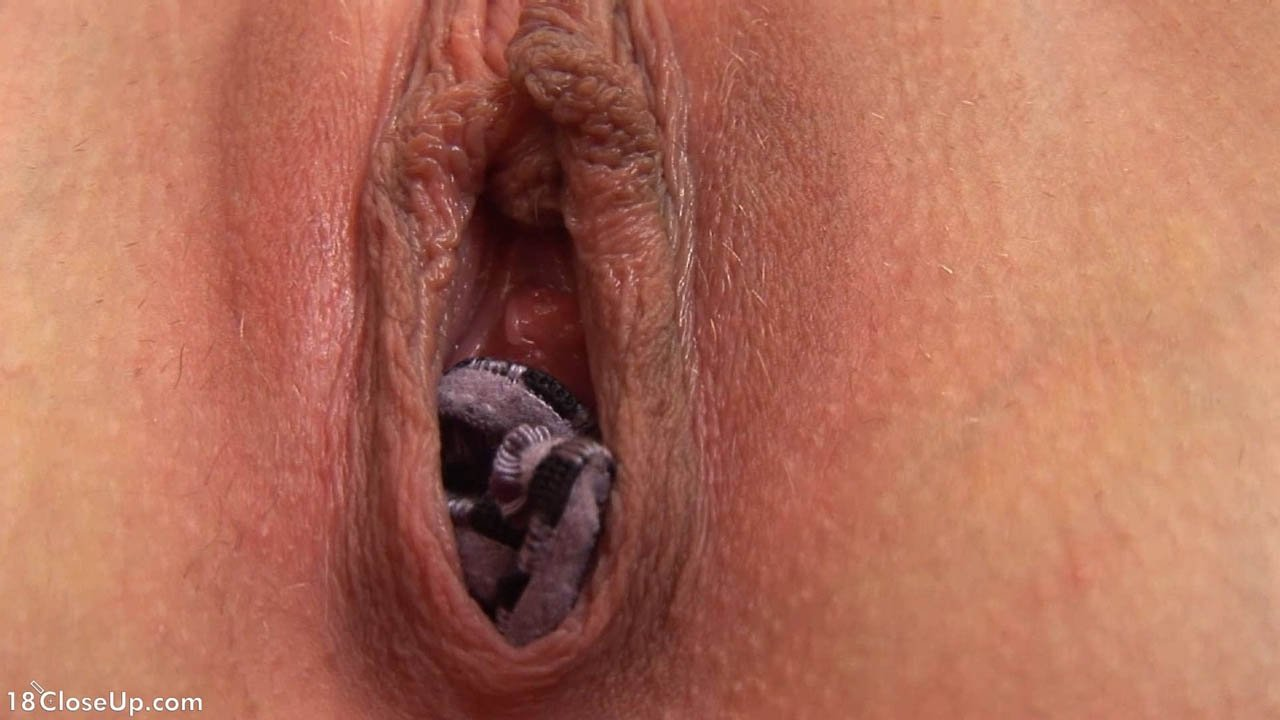 Stuffing my panties in my pussy