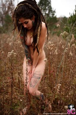 Nude Black dreadlocks women