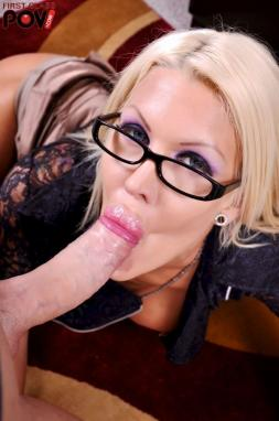 Licking sucking dick glasses old