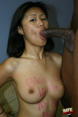 Hello LadyBoy - Petite Thai Ladyboy struggles with big white cock