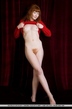 Redhead nude in Natural standing hairy the