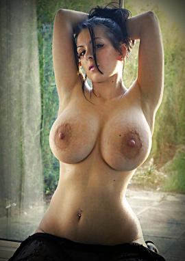 Big tits brown nipples