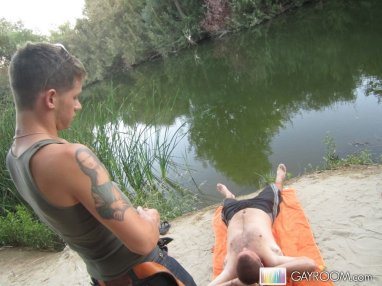 Hot Gay Outdoor With Cumshot