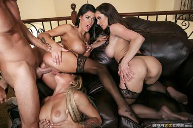 Luckiest Man On Planet Earth Johnny Sins Cant Keep His Hands Off His Sexy New Bride Kissa Being Neglected Is Not Sitting Well With Kendra And Peta